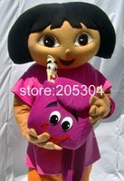Wholesale Dora mascot Apparel Character Dora dress EVA Material Dora costumes