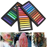 Wholesale New Temporary Color Hair Dye Soft Pastels Chalk Salon Non Toxic Fashion