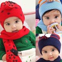 Wholesale Hat Cap Scarf Set Cute Winter Knit Crochet Beanie For Baby Kids Girls Gift