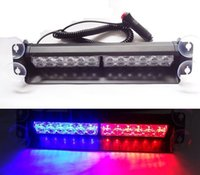 car security light - 36W LED Police Emergency Vehicle Car Truck Visor Dashboard Windshield Rear Strobe Lights Winter Warning Security Dash Light Red Blue