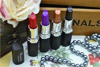 Wholesale 2015 special color lipstick purple black American fashion naked blonde temptation to bright red lipstick DHL free postage