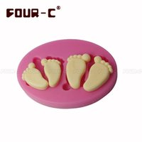 adult cake decorating - DIY Cute Adult Baby Foot Shape Silicone D Mold Cake Decorating Moulds Fondant Chocolate Feet Soap Mold