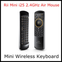 Wholesale Rii mini i25 GHz Wireless Game Keyboard Fly Air Mouse Ergonomic Remote Controller for Tablet PC Android TV Box