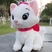 Unisex baby cartoon video - 20pcs cm The Aristocats cat plush toy Cartoon Marie cat plush dolls Soft Stuffed Animals MarieCat toys kids baby Christmas gift HX