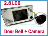 Wholesale quot LCD Digital Video Door Viewer Doorbell Security Camera Cam Super Slim White