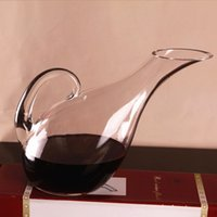 Wholesale 1300ml Swan Shaped Glass Wine Decanter Aerating Jug Liquor Container Dispenser Wine Carafe Bar Tools Gift order lt no track