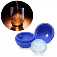 Wholesale Wars Death Star Silicone Round Ice Cube Mold Tray Desert Sphere Mould DIY Tool