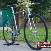 aluminum single speed frame - Cool Fashion Gray Frame cm with Black Rim Tyre X23C Complete Fixed Gear Bike Single Speed Bike FIXEE