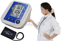 arm blood monitor - Digital Upper Arm Automatic Blood Pressure Monitor Large LCD disply Sets Memory