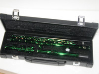 Wholesale NEW Green Flute with case Musical Instruments Woodwind Flute