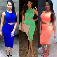 sexy night clothes - Sexy Cut out Club Dress Vestidos Femininas Women Clothing Sleeveless Fold Pencil Bodycon Bandage Party Midi Dresses