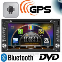Wholesale Double Din Universal Car DVD Player Automotivo built in Bluetooth FM Transmitter Radio Tuner Touch Screen