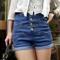 best ladies jeans - Hot Salw Best seller Womens Girl Denim High Waist Lady Shorts Jeans Pants Vintage Cuffed Jan15