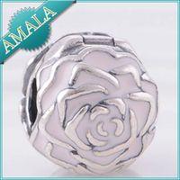 Wholesale Fits Pandora Charms Bracelet Pave Heart CZ Ball Clip Beads Sterling Silver Charms DIY Jewelry Fits European Style Bracelet KT081