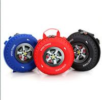Wholesale 2016 Funny gift New Kids Auto Cool Car Tire Boy Children Small School Bag Backpacks Cartoon Round Zipper Bookbag red blue black free ship