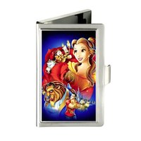 belle tied - Beauty And The Beast Belle All Characte Custom Design Unique Business Card Holder Pocket Wallet Name ID Credit Case Stainless Steel Box Case
