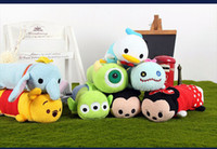 animal games children - Tsum Tsum Plush Pencil Case Pen Bag Stationary Minnie Mickey Donald Duck Stitch Mike Wazowski Sullivan line Bear kids toys for Children gift