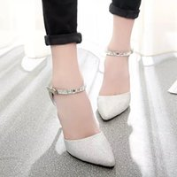 Wholesale Latest fashion leather pointed high heeled sandals in the summer of tide cingulate high heels sandals women are fine with the red shoes