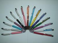 diamond pen - Rapid customization crystal diamond pen elegant diamond pen with stylus touch pen and velvet bag