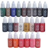 Wholesale 23 Colors Tattoo Ink Set Permanent Makeup Pigment ml one Bottle BioTouch Pigment for Eyebrow Embroidery Tattoo Makeup Pigment