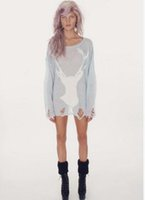 Wholesale Europe and United States women s hole deer sweater pepper Wildfox tear Europe and America series fawn jumper