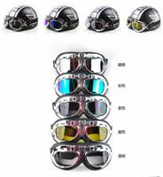 Wholesale Motorcycle goggle Motorcycle Scooter Steampunk Cruiser Helmet Goggle Eyewear