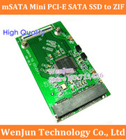 Wholesale mm Full Height mSATA Mini PCI E SATA SSD to ZIF CE quot inch Pin Adapter Converter order lt no track