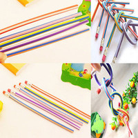 bendy pencils - 5Pcs Per Bendy Soft Pencil With Eraser For Kids Writing Colorful Magic Flexible Gift order lt no tracking