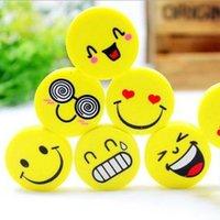 Wholesale Eraser smile eraser Rubber polishing the professional trade fair Lovely smiling face rubber