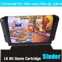 Wholesale New classical bit md game card for bit game console Chip Dale Rescue Rangers