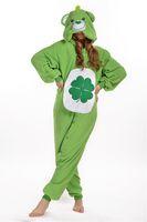 bear suit pajamas - Green Lucky Bear Kigurumi Pajamas Animal Suits Cosplay Outfit Halloween Costume Adult Garment Cartoon Jumpsuits Unisex Animal Sleepwear