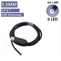 Wholesale Waterproof M Cable LED mm USB Inspection Borescope Endoscope Snake Scope Camera Micro Cameras