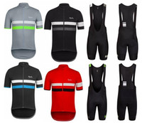 Wholesale Rapha short sleeve cycling jerseys contracted fashionable riding bike unlined upper garment jacket MTB Bike outdoor jersey Jersey Sets
