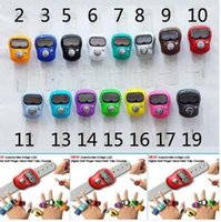 assorted temples - Mini Muslim Finger Ring Tally Counter Digital Tasbeeh Tasbih For Golf Temple Assorted Color JF B3
