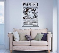 baby wanted - Anime Cartoon One Piece Luffy Wanted Baby Room Children Present Wall Sticker Decal Home Decor For Anime Fans