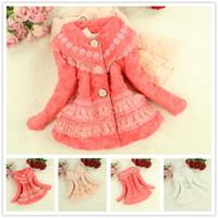 Wholesale New Arrival Kids Girls Faux Fur Coat Warmly Jacket Coat Children s Baby Winter Warm Lace Outerwear Colors