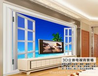 artistic direct - Supply Foshan factory direct D seascape tile backdrop artistic color carving TV sofa backdrop JBLL
