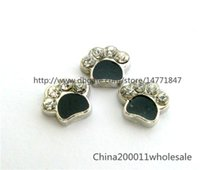 Wholesale 10pcs Dog paw Floating charms For Glass living memory Locket mm
