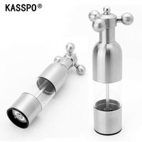 Wholesale Kitchen supplies pepper mill stainless steel thickening pepper grinder manual order lt no track