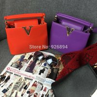 Wholesale European and American fashion trend of mini candy colored PU leather handbag shoulder bag ladies mini casual purse