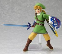 anime collection swords - Anime Legend of Zelda Link with Skyward Sword Figma PVC Action Figure Collection Model Kids Toy approx cm EMS