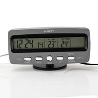 Wholesale High Quality Digital LCD Display Thermometer Voltage F C w Ice Alert for v car Professional For Sale