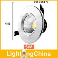 Wholesale New LED COB Downlight W W W W Dimmable AC110V V Indoor Lighting Warm White Pure White Cool White Fast Delivery DHL Fedex