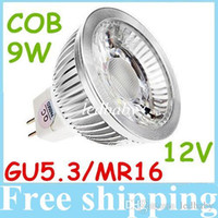 Wholesale 12V MR16 GU5 Led Spotlights High Power COB W Dimmable Led Bulbs Light Warm Natural Cool White Replace W Halogen Lamp