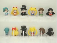 Wholesale New Sailor Moon Mercury Mars Jupiter Venus Tuxedo Mask Figure fors Kids best Christmas gift approx cm