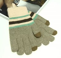 mens sports gloves - Factory Price New Winter mens Wool Knitted Gloves Fashion Winter Gloves Winter Screen Touch gloves Sports Riding Gloves LJJD1597 pairs