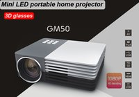 Wholesale 3D glasses mini Projectors Video Home Theater Cinema movie P HD HDMI USB Digital Multimedia LCD Proyector Beamer LED Projetors