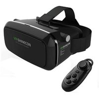 Wholesale VR Shinecon D VR Glasses Universal Video Glasses Virtual Reality Free Controller For iPhone Smartphone Bluetooth Controller