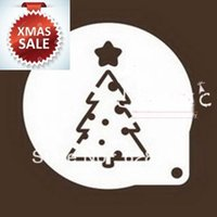 acrylic cupcake tree - quot cm Christmas Tree Acrylic Fondant Party Cheese Cake Coffee Cake Cookie Cupcake Stencils