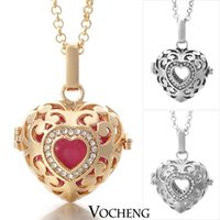 Cheap Harmony Ball Pregnancy Ball in Pendants 3 Colors Copper Metal Angel ball in Chain Necklaces (VA-026)